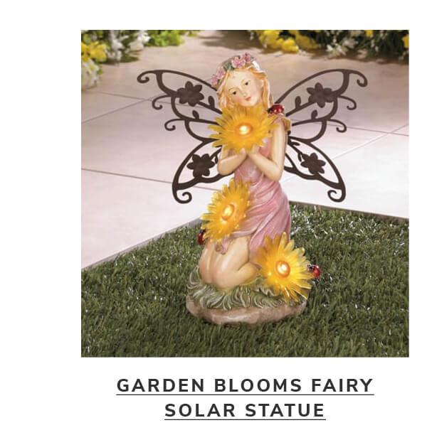 Garden Blooms Fairy Solar Statue | SHOP NOW