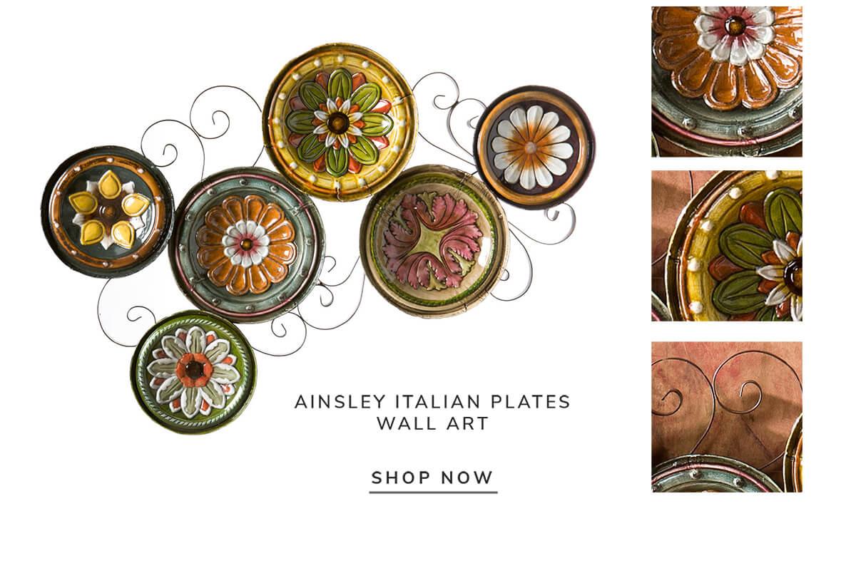 Ainsley italian plates wall art   SHOP NOW