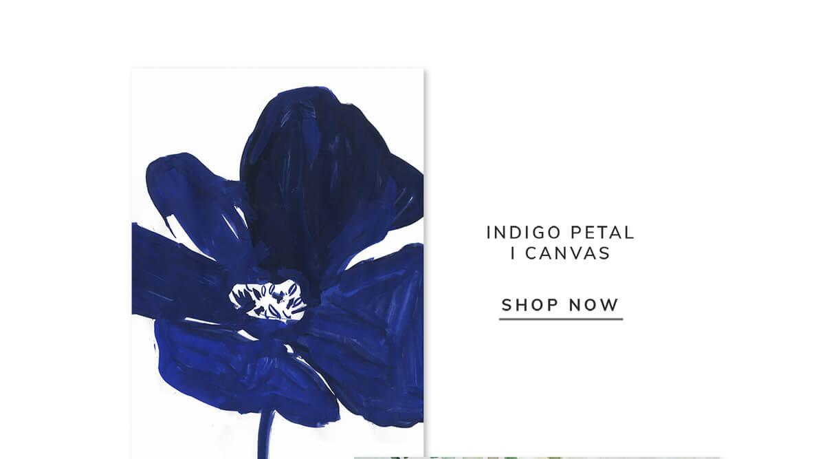 Indigo petal I canvas   SHOP NOW