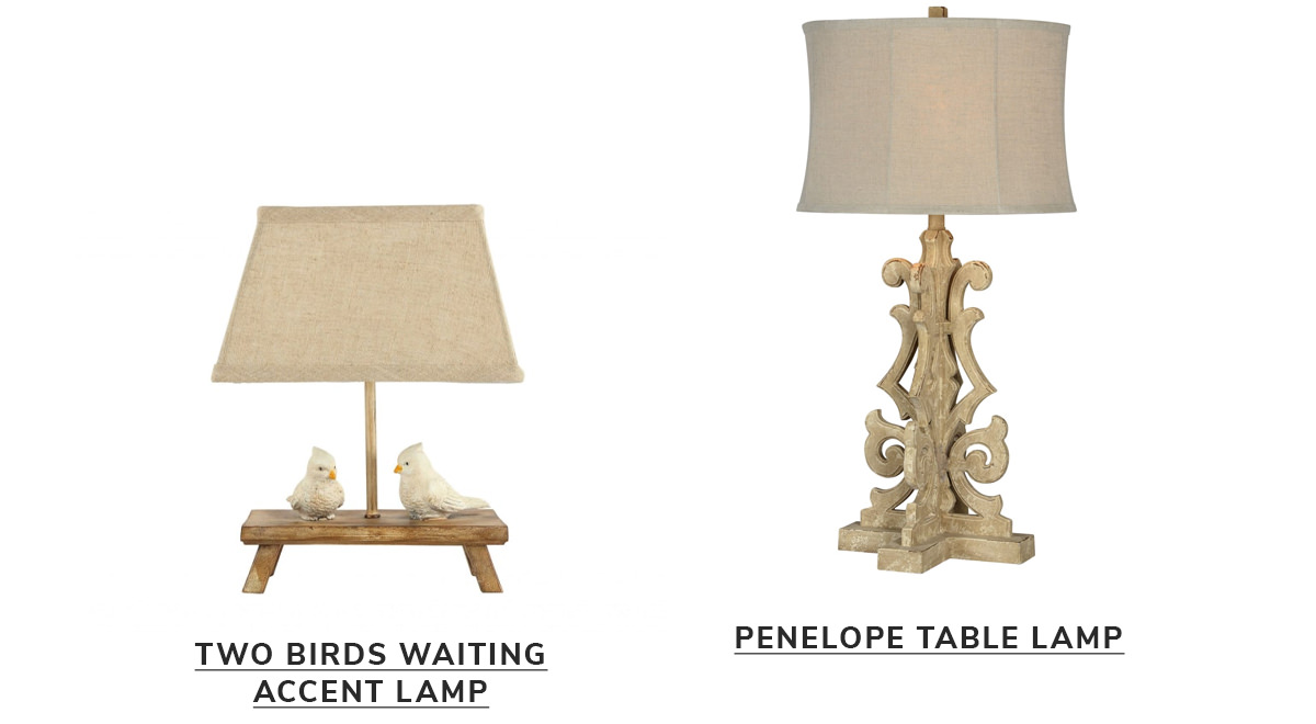 Two Birds Patiently Waiting on the Bench Accent Lamp, Penelope Table Lamp   SHOP NOW