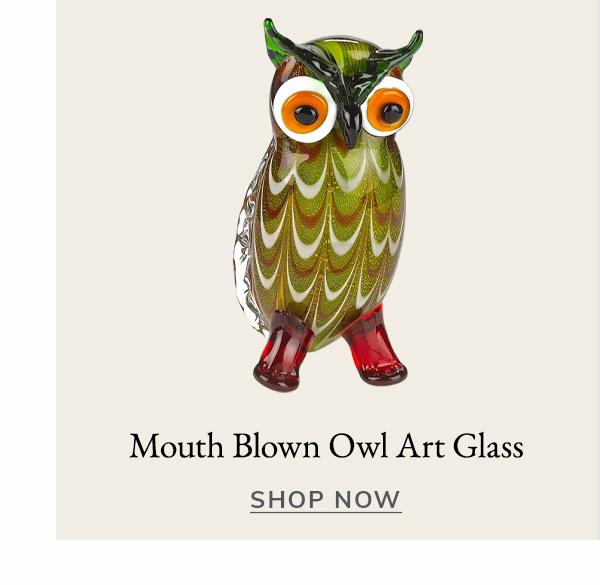 Mouth Blown Owl Art Glass | SHOP NOW
