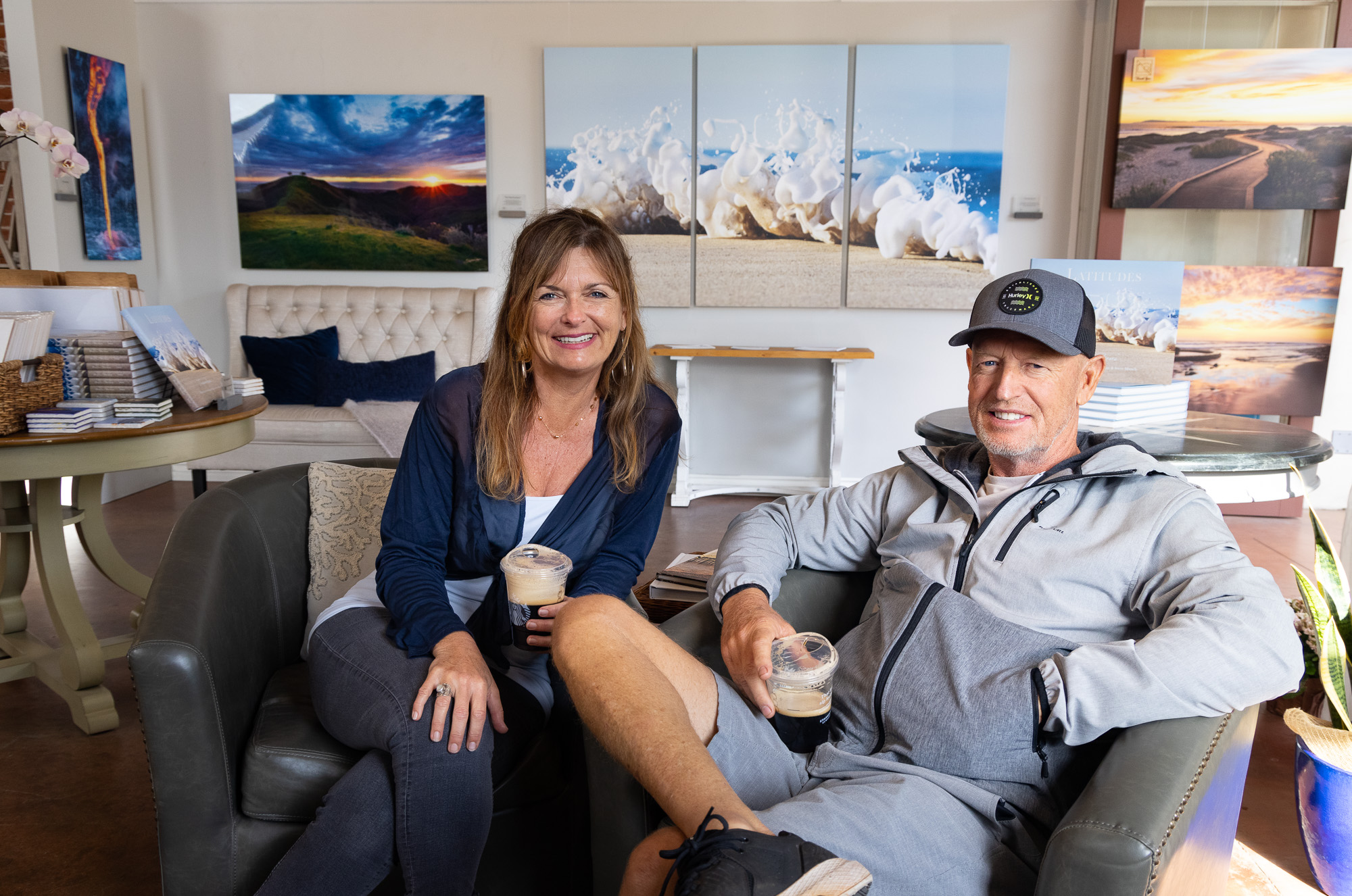 Stephanie Hogue and Steve Munch in Ventura at Latitudes Gallery