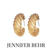 Image of Jennifer Behr June Gold Vintage Hoop Earrings