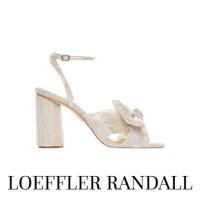 Image of Loeffler Randall Camellia Shimmer Knot Mule with Ankle Strap