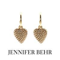 Image of Jennifer Behr Greta Gold Hoop and Heart Earrings