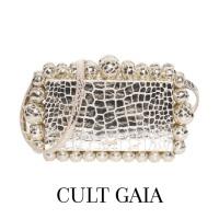 Image of Cult Gaia EOS Metallic Crossbody Box Clutch