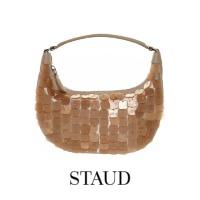 Image of Staud Mini Sasha Natural Payette Shoulder Bag