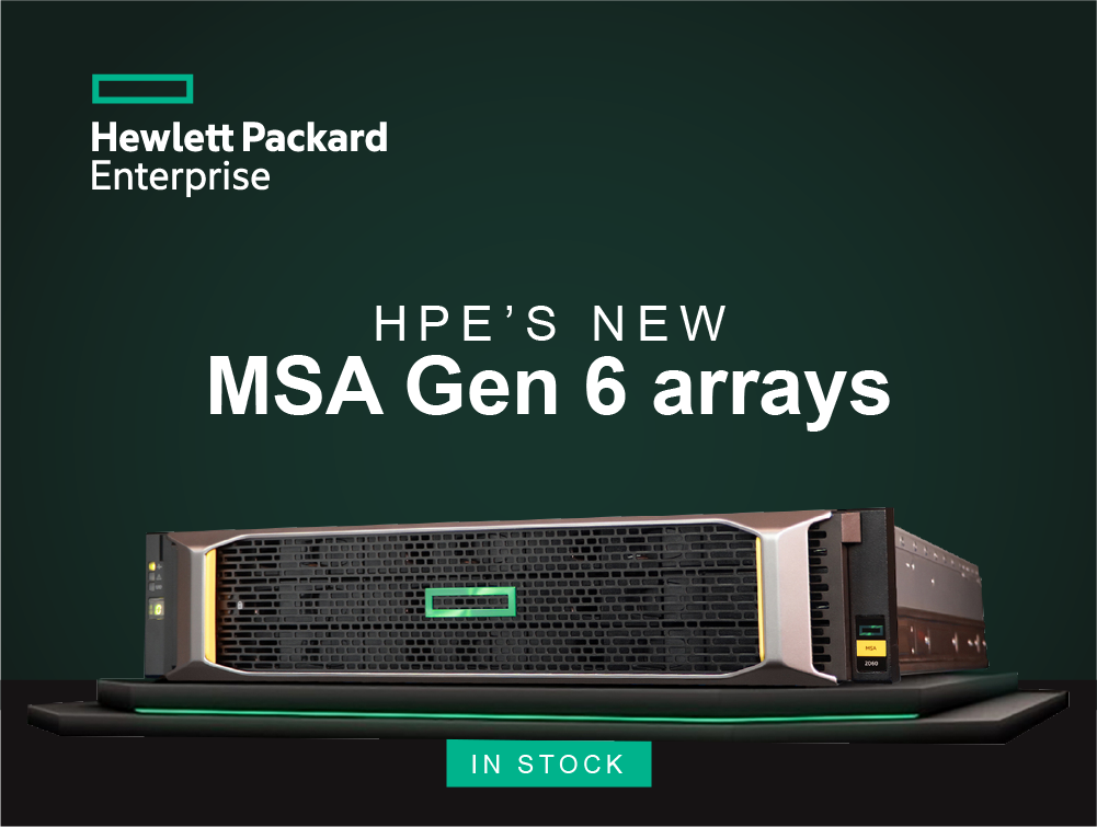 HPE's new MSA Gen 6 Arrays