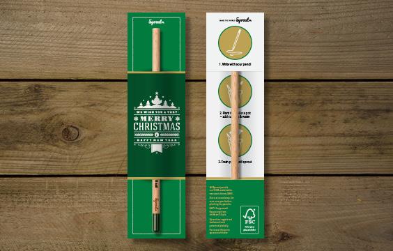 Geschenkverpakking Sprout potlood Kerst