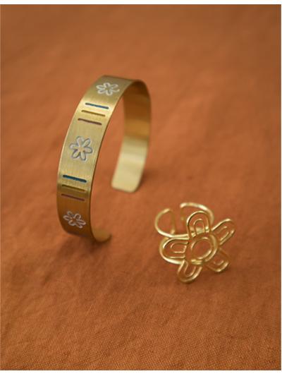 Floral Enamel Bracelet
