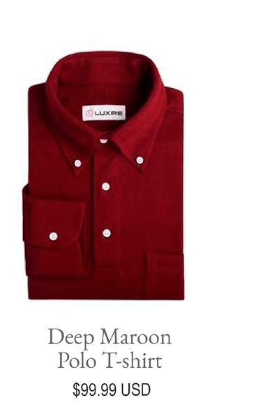 Deep Maroon Polo T-shirt