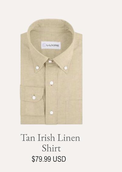 Tan Irish Linen Shirt
