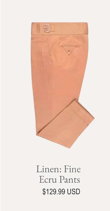 Linen Fine Ecru Pants