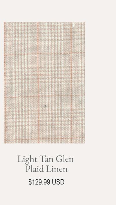 Light Tan Glen Plaid Linen