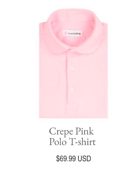 Crepe Pink Polo Tshirt
