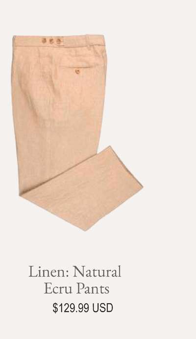 Linen Natural Ecru Pants