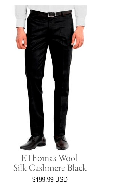 EThomas Wool Silk Cashmere Black
