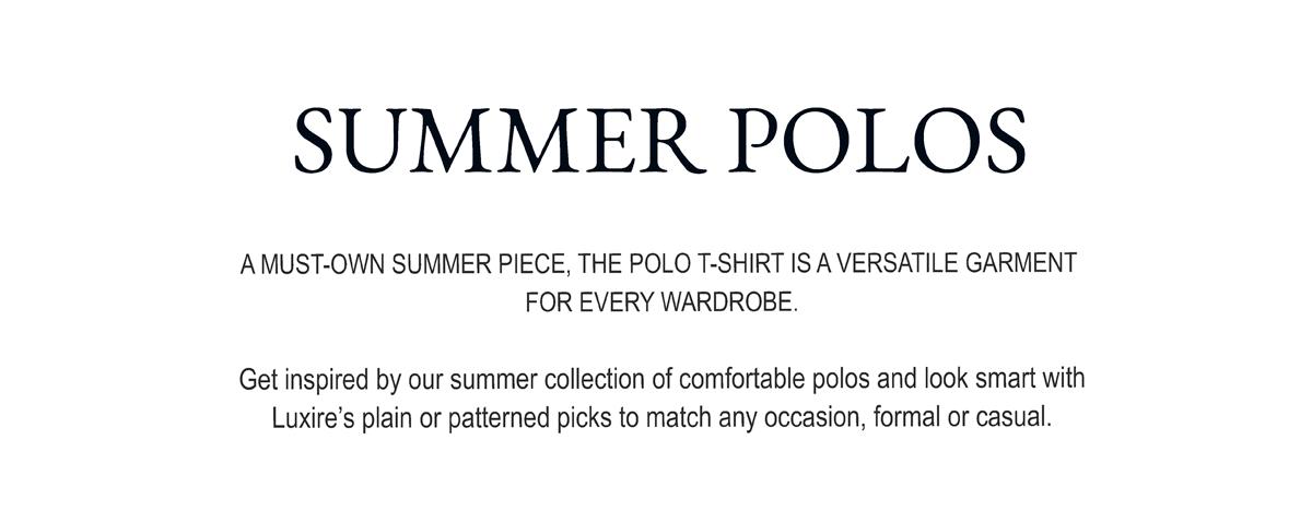 Summer Polos