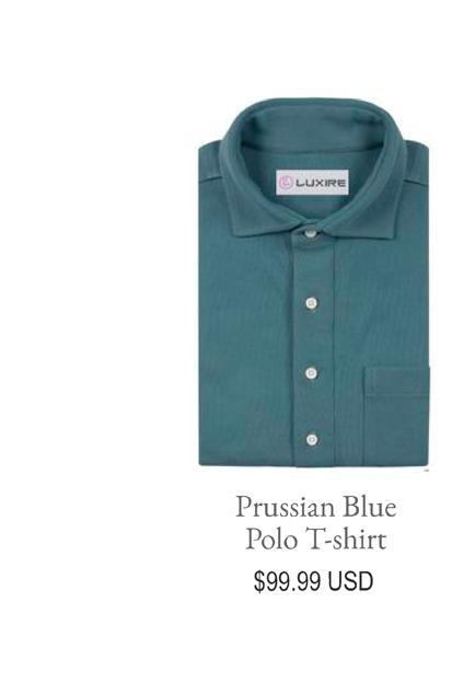 Prussian Blue Polo T-Shirt