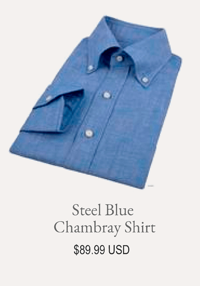Steel Blue Chambray Shirt