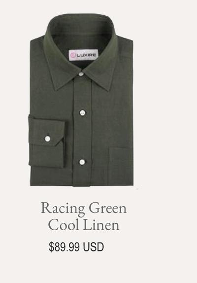 Racing Green Cool Linen