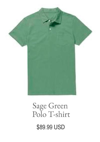 Sage Green Polo T-shirt