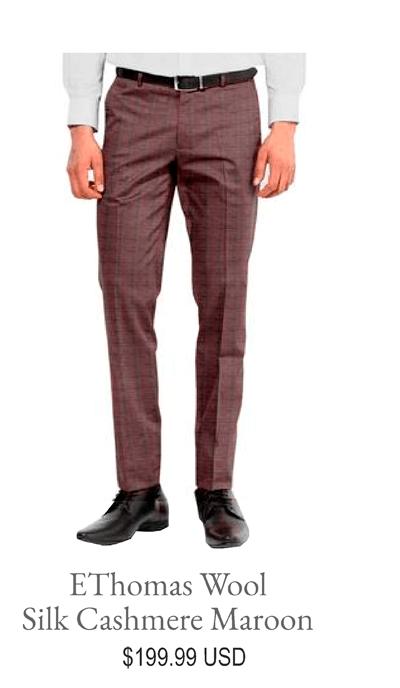 EThomas Wool Silk Cashmere Maroon