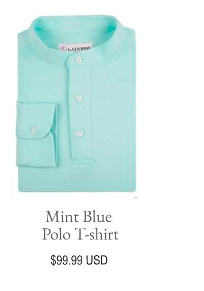 Mint blue Polo T-shirt