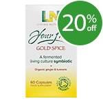 Living Nutrition Your Flora: Gold Spice - 60 Capsules