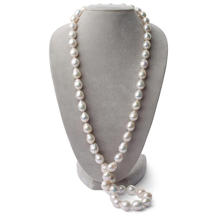 Opera Length White Freshwater Jumbo Edison Pearls
