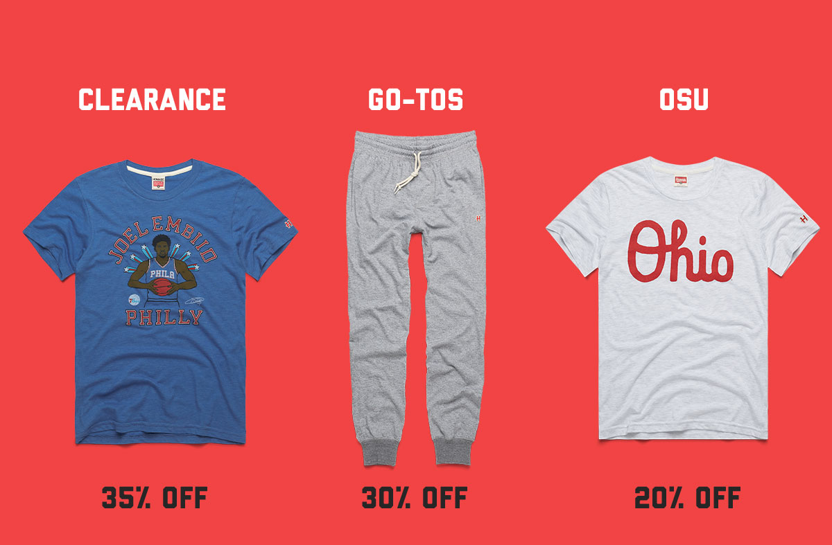 35% Off Clearance, 30% Off Go-Tos, 20% Off* OSU