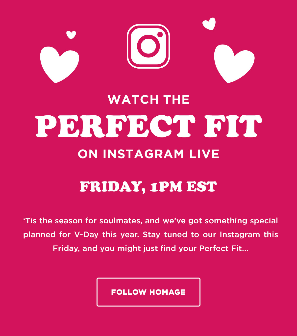 Watch the Perfect Fit on Instagram Live! Friday at 1pm Est.