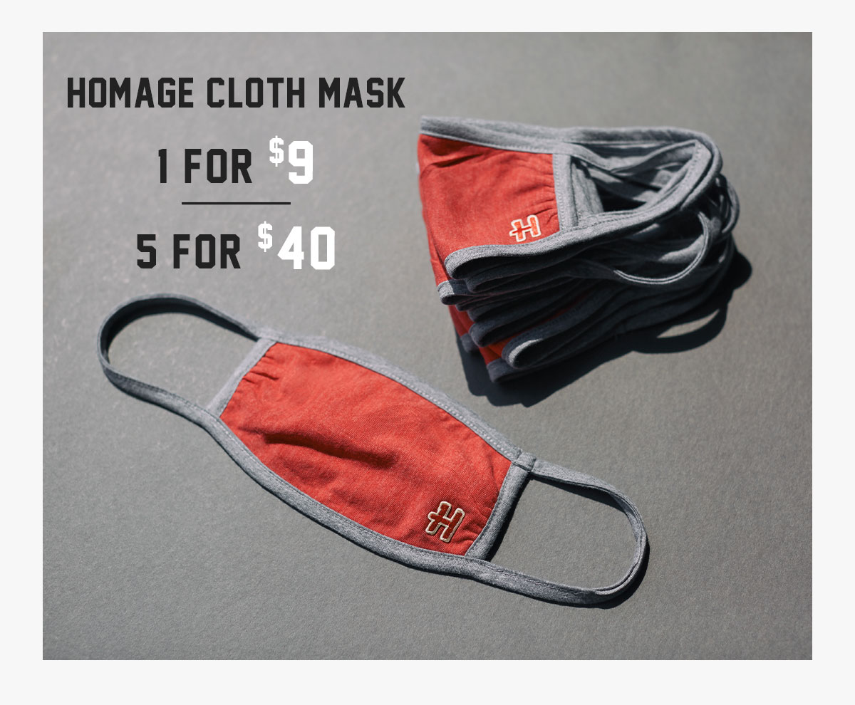 We've taken our soft t-shirt fabric, triple layered it and sewn it into masks for added protection when it's necessary to leave your homes.