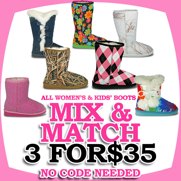 DAWGS Boots Deal - 3 Pairs of Boots for $35