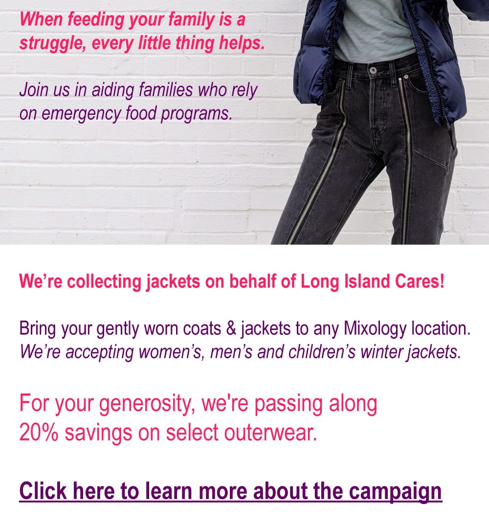 We're collecting jackets. Come donate!