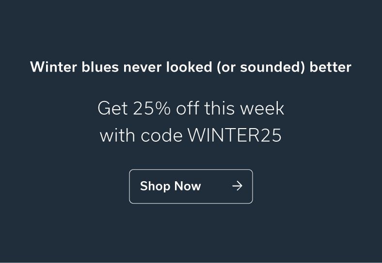 Winter blues never looked (or sounded) better