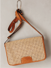 Wicker Crossbody Clutch