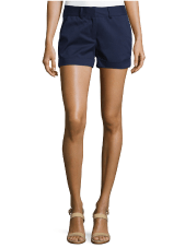 Flat Front Rolles Cuff Shorts
