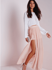 Miguided Split Side Maxi Skirt
