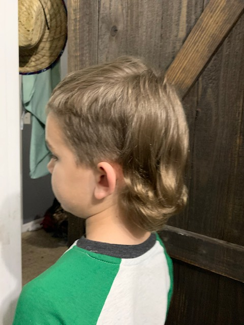 This is kyles son with a sweet ass mullet