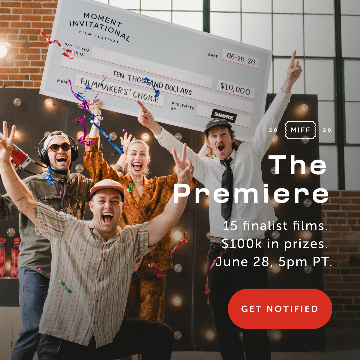 The Premiere — Get Notified