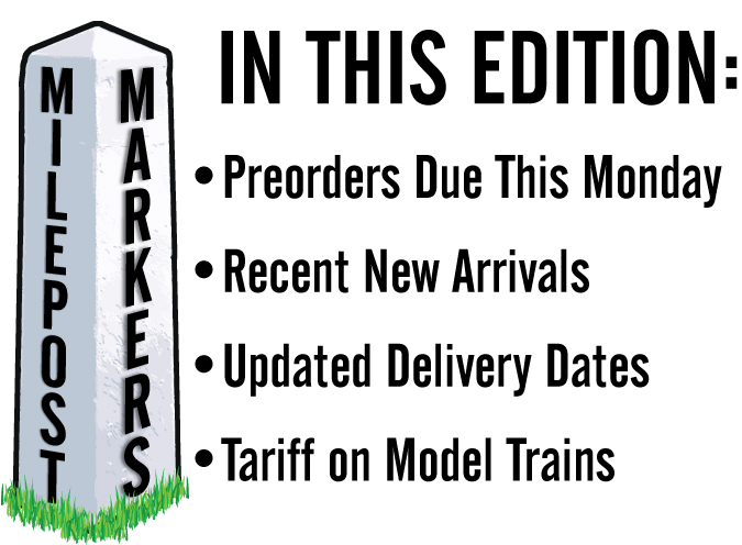 Preorders Due This Monday at ScaleTrains.com