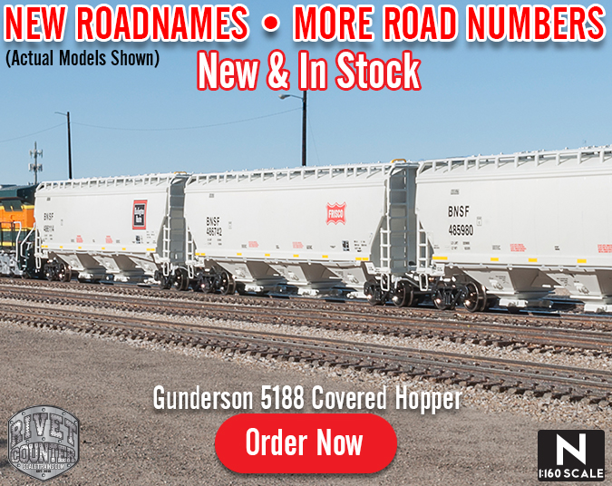 New Arrival: Rivet Counter N Scale Gunderson 5188 Covered Hopper by ScaleTrains.com