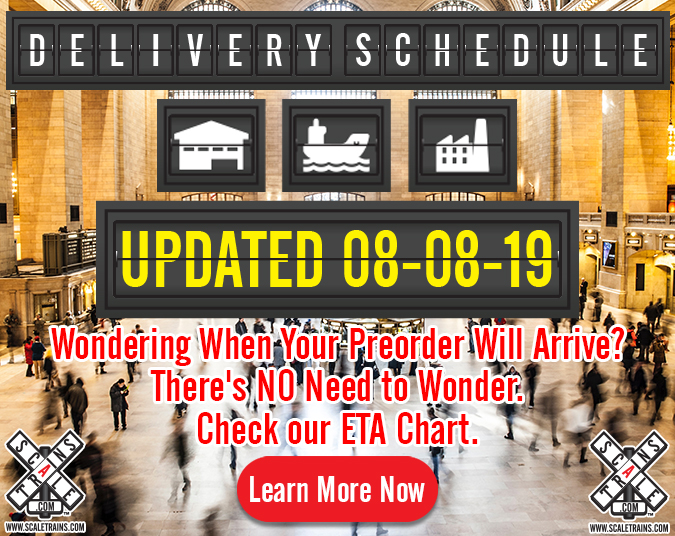 Updated Delivery Dates at ScaleTrains.com