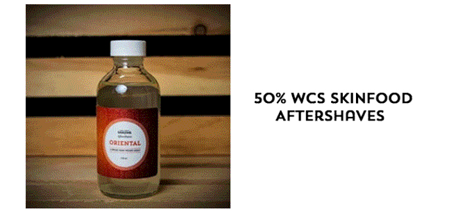 50% WCS Skinfood Aftershaves