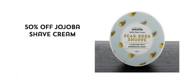 50% Off Jojoba shave cream
