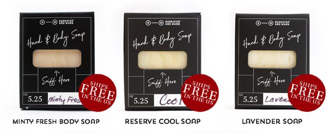 Minty Fresh Body Soap, Reserve Cool Soap , Lavender Soap