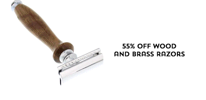 55% Off Wood and Brass Razors