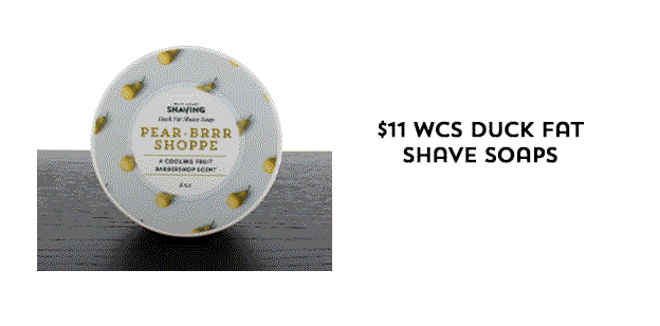 $11 WCS Duck Fat Shave Soaps