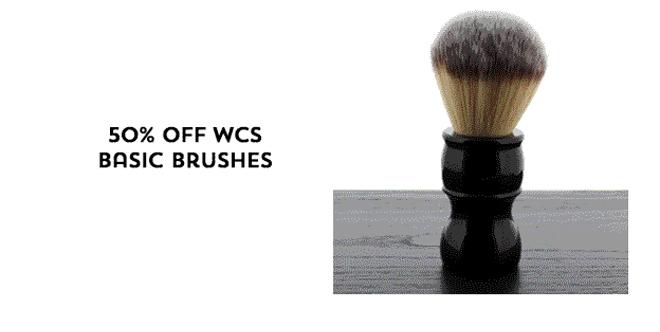 50% Off WCS Basic Brushes